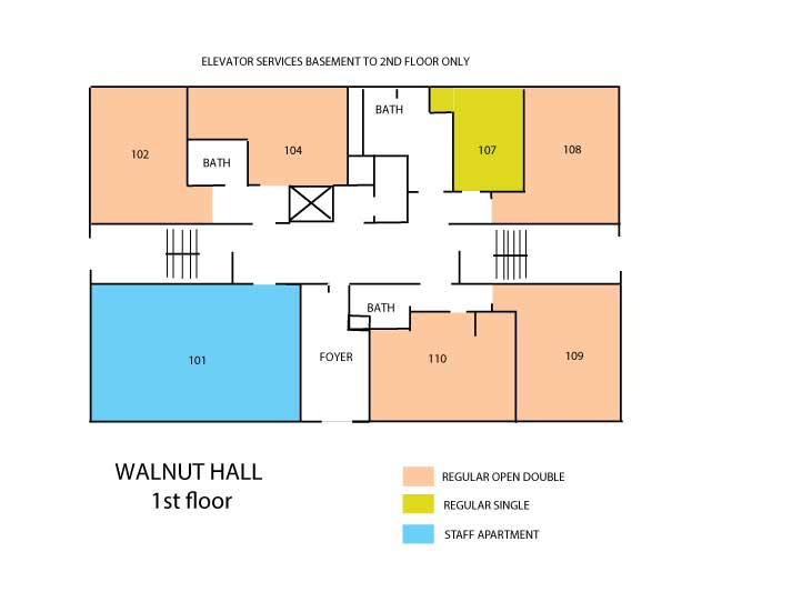Walnut Hall Floor Plans Housing Meal Plan And I D Card Services Syracuse University