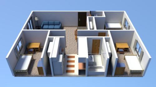 Floorplan - 3 Bedroom Apartment