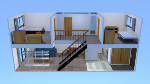 Townhouse 2-Bedroom Apartment Layout